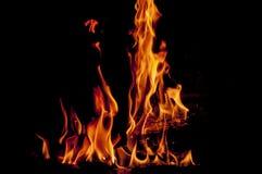 Il ceppo sta bruciando Fotografie Stock