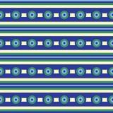 Il cerchio barra le linee orizzontali del modello senza cuciture di vettore illustrazione vettoriale