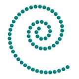 il cerchio 3D gira le superfici Logo Design Vector Fotografia Stock