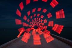 Il cerchio della luce rossa Fotografia Stock Libera da Diritti