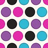 Il cerchio geometrico senza cuciture punteggia il fondo royalty illustrazione gratis