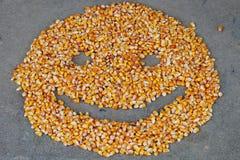 Il cereale semina lo smiley Immagini Stock Libere da Diritti