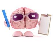 il cervello 3d è organizzato Fotografia Stock Libera da Diritti