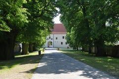 Il Cerveny Kamen Castle, Slovacchia Fotografia Stock Libera da Diritti