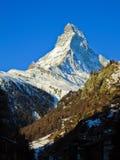 Il Cervino in alpi svizzere Fotografie Stock Libere da Diritti