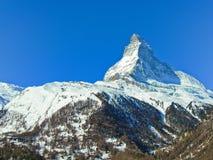 Il Cervino in alpi svizzere Fotografia Stock Libera da Diritti