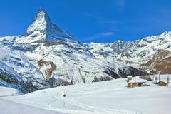Il Cervino in alpi svizzere Immagine Stock Libera da Diritti