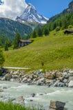 Il Cervino, cima delle alpi svizzere Immagini Stock