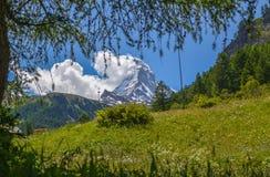Il Cervino, cima delle alpi svizzere Fotografie Stock Libere da Diritti