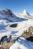 Il Cervino con Riffelsee, Zermatt, Svizzera Fotografie Stock Libere da Diritti