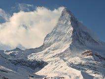 Il Cervino di punta, Zermatt, Svizzera Immagini Stock
