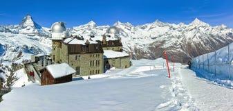 Il Cervino ed alpi svizzere in svizzeri Fotografia Stock Libera da Diritti