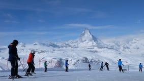 Il Cervino: Il gioiello delle alpi svizzere Fotografia Stock Libera da Diritti