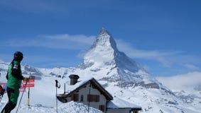 Il Cervino: Il gioiello delle alpi svizzere Immagini Stock