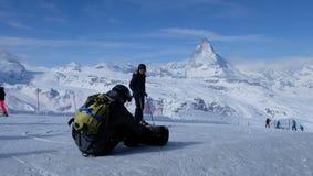 Il Cervino: Il gioiello delle alpi svizzere Immagine Stock