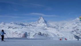 Il Cervino: Il gioiello delle alpi svizzere Fotografie Stock