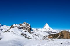 Il Cervino, la montagna più famosa a Zermatt, Svizzera Immagini Stock Libere da Diritti
