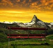 Il Cervino nel tramonto Immagine Stock Libera da Diritti