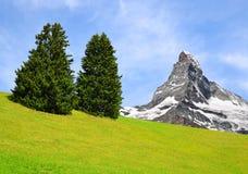 Il Cervino nelle alpi della pennina, Svizzera Fotografia Stock Libera da Diritti