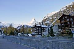 Il Cervino Svizzera di punta alpina Fotografie Stock