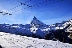 Il Cervino Svizzera di punta alpina Immagine Stock Libera da Diritti