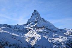 Il Cervino Svizzera di punta alpina Fotografie Stock Libere da Diritti