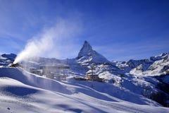 Il Cervino Svizzera di punta alpina Immagini Stock
