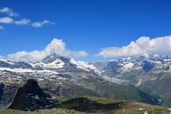 Il Cervino, Valais, Svizzera Fotografie Stock Libere da Diritti