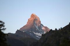 Il Cervino in Zermatt, Svizzera Fotografie Stock Libere da Diritti