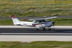 Il Cessna Skyhawk Immagini Stock Libere da Diritti