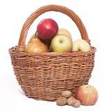 Il cestino della mela Immagine Stock Libera da Diritti