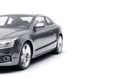 Il CG 3d rende dell'automobile sportiva di lusso generica isolata su un fondo bianco Illustrazione grafica Fotografie Stock Libere da Diritti