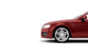 Il CG rende dell'automobile di lusso generica del coupé Fotografia Stock
