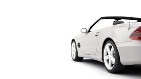 Il CG rende dell'automobile di lusso generica del coupé Fotografie Stock Libere da Diritti