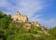 Il Château de Castelnaud, Perigord Immagine Stock