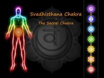 Il Chakra sacrale Immagini Stock Libere da Diritti
