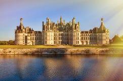 Il Chateau de Chambord reale, Francia Immagine Stock