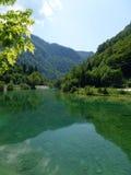 Il chiaro lago Bohinj in Slovenia Fotografia Stock Libera da Diritti