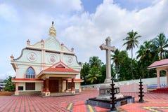 Il churchin Chennamkari di St Joseph vicino a Alleppey nel Kerala, India Immagine Stock Libera da Diritti