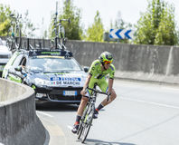 Il ciclista Alessandro De Marchi - Tour de France 2014 Fotografie Stock Libere da Diritti