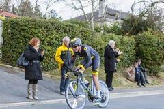 Il ciclista Alexandre Pichot - 2016 Parigi-piacevole Fotografie Stock