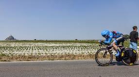 Il ciclista Andrew Talansky Fotografia Stock Libera da Diritti