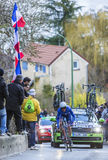 Il ciclista Andrew Talansky - 2016 Parigi-piacevole Fotografia Stock
