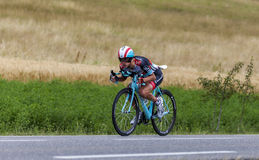 Il ciclista Andy Schleck Fotografie Stock Libere da Diritti