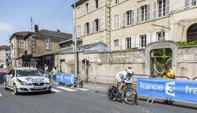 Il ciclista Arnaud Gerard Fotografie Stock Libere da Diritti
