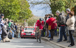 Il ciclista Arnold Jeannesson - 2016 Parigi-piacevole Fotografie Stock