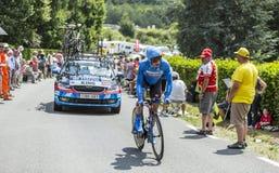 Il ciclista Benjamin King - Tour de France 2014 fotografie stock libere da diritti