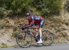 Il ciclista Brent Bookwalter Immagini Stock Libere da Diritti