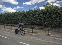 Il ciclista Christian Knees - Criterium du Dauphine 2017 Fotografie Stock