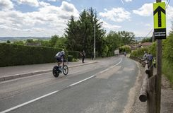 Il ciclista Christian Knees - Criterium du Dauphine 2017 Immagini Stock